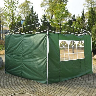 Outsunny 3m Gazebo Replacement Side Walls in Green