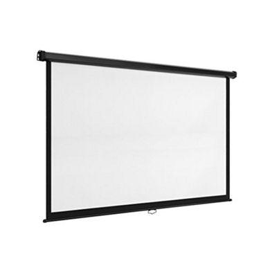 VonHaus 78-Inch Self Locking Manual Projector Screen - White