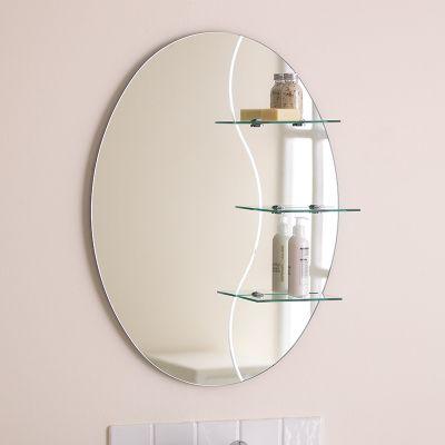 Endon Lighting Kolat Bathroom Mirror with Chrome Shelf Brackets