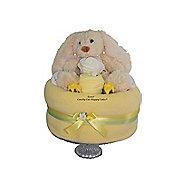 Unisex Bunny Rabbit Nappy Cake Baby Shower Gift