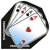 Harrows Marathon 4 Aces Standard Dart Flights Pack of 10
