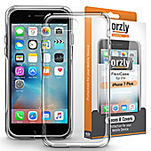 Apple iPhone 7 PLUS, iPhone 8 PLUS Thin Back TPU Gel Transparent Case by Orzly