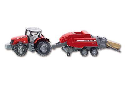 Farming - 1:50 Scale Massey Ferguson 8690 With Square Baler - SIKU