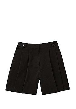 F&F School Button Tab Regular Fit Culottes - Black