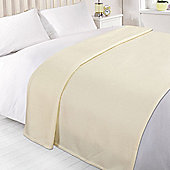 Dreamscene Soft Fleece Throw Blanket 120 x 150 cm - Cream