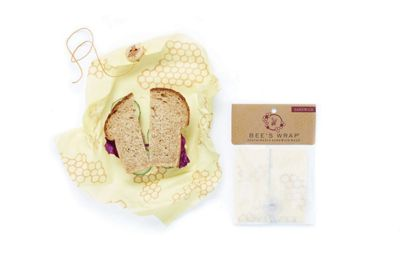 Bee's Wrap Reusable Sustainable Food Storage Sandwhich Wrap 33 x 33cm 1531313