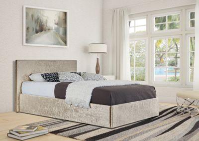 Buy Comfy Living 5ft King Size Crushed Velvet Ottoman Storage Bed