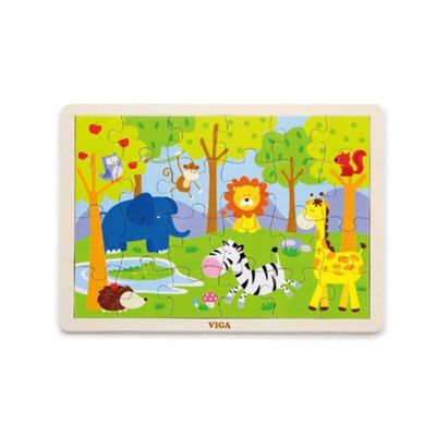 Viga Wooden Safari Puzzle