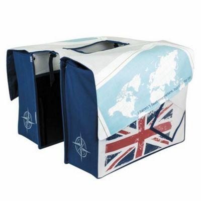 Tourists Shopper Travel Union Jack Double Pannier Bag 36L
