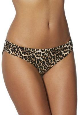 F&F Animal Print Narrow Bikini Briefs Brown Multi 20