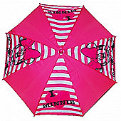 Minnie Mouse 'Stripe' Nylon and PVC Umbrella