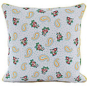 Homescapes Cotton Paisley and Dots Scatter Cushion, 30 x 30 cm