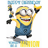 Despicable Me Birthday Card