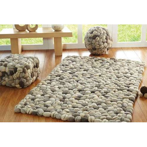 Wilkinson Furniture Pebbles Rug in Natural - Small