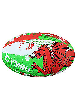 Optimum Nation Rugby Ball - Wales - White