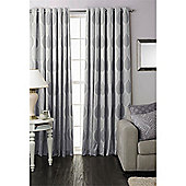 Riva Home Dalby Eyelet Curtains - Silver