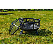 Kingfisher Garden Decorative Firepit with Floral Design