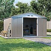 BillyOh Boxer Apex Metal Shed Garden Storage 10 x 11 Grey