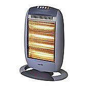 Warmlite WL42002 4 Bar Oscillating Halogen Heater, 1600W - Grey