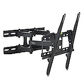 "VonHaus 23-56"" Double Arm Tilt & Swivel TV Wall Mount Bracket with Built-In Spirit Level"