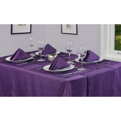 Hamilton McBride Signature Linen Look Oblong Tablecloth 132 x 178cm - Purple