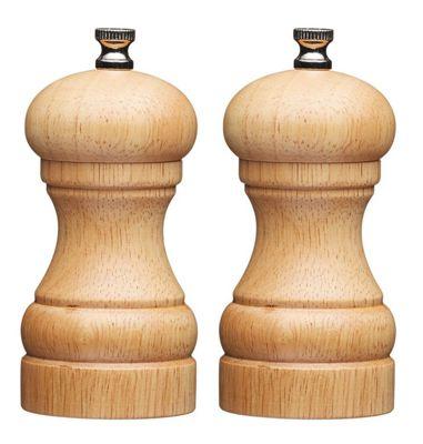 Master Class Filled Wooden Capstan Salt and Pepper Mill Set