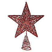 Red Sparkly Star Christmas Tree Topper