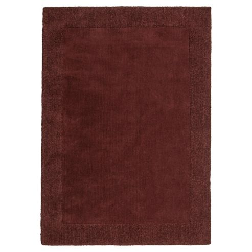 Tesco Tiered Border Wool Rug Chocolateolate 120X170Cm