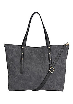 F&F Embossed Croc Effect Winged Tote Bag