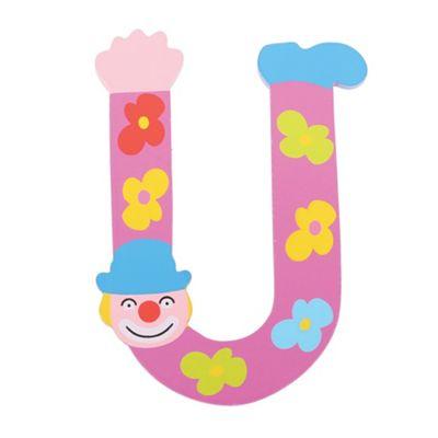 Tatiri Crazy Clown Letter U ((Purple) Flowers)