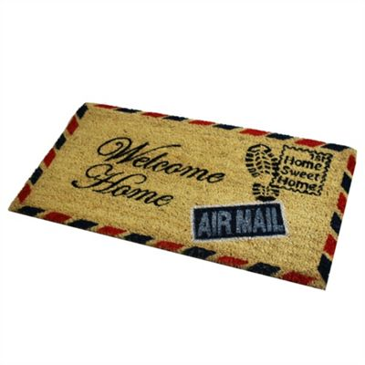Welcome Post PVC Coir Mat 40x70cm