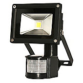 Starmo 10w Black LED PIR Floodlight Cool White 6500K