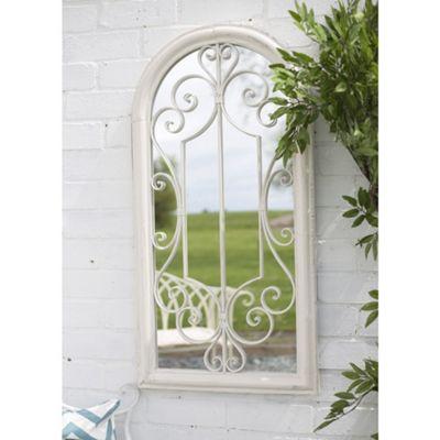 Scrolled Arch Garden Mirror