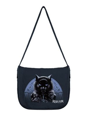 Requiem Collective The Bewitching Hour Black Canvas Messenger Bag 38x33x10cm