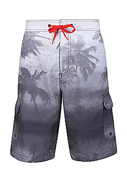 Mountain Warehouse Ocean Pattern Mens Boardshorts ( Size: XS )