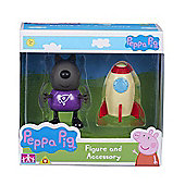 Peppa Pig Figure and Accessory (Danny Dog W/Rocket)