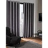 Logan Eyelet Thermal Blackout Curtains, Silver 168x183cm