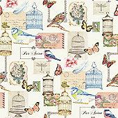 Muriva Parisian Birdcage Wallpaper - J51112