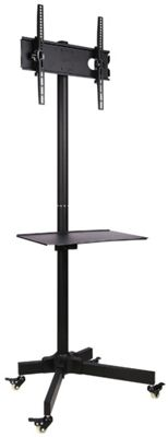 Ultimate Mounts Single Pole TV Cart Trolley Stand For Up To 55 inch 1.5m