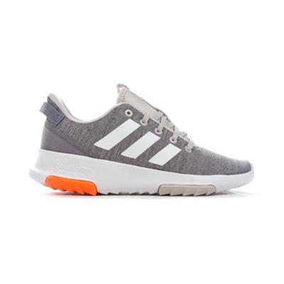 adidas Cloudfoam Racer Kids Boys Sports Trainer Shoe Grey/White - UK 1