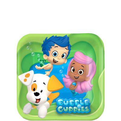 Bubble Guppies Plates - 17cm Paper Party Plates - 8 Pack