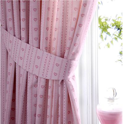 Baby Pink Love Heart Bedroom Curtains 72s