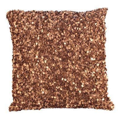 Gold Woven Sequin Crush Cushion Bed Sofa Decor