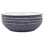 Denby Essentials Dusk Blue & Mint 4 Piece Pasta Bowl Set