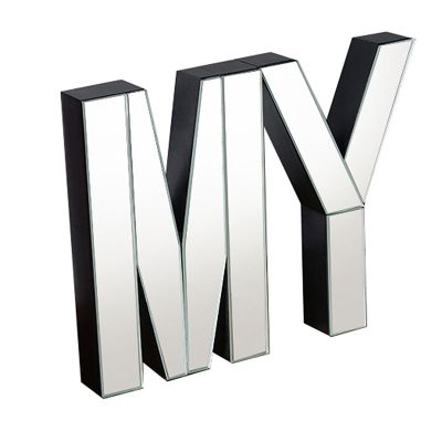 MY Large mirrored freestanding or wall decorative letters