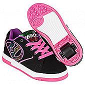 Heelys Propel 2.0 Black/Pink/Purple Kids Heely Shoe - Black