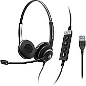 Sennheiser Circle SC 260 MS II Wired Stereo Headset - Over-the-head - Supra-aural - Black, Silver