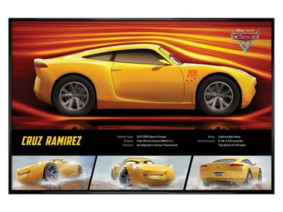 Cars 3: The Movie Gloss Black Framed Cruz Ramirez Stats Poster 61 x 91.5cm