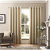 Curtina Islington Eyelet Curtains - Stone
