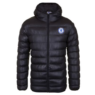 Chelsea FC Mens Quilted Jacket Black XL